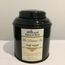 Boîte de thé noir aux pommes et calvados 100g