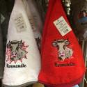 Torchon cloche Normandie vache blanc