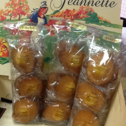 Sachet de 6 madeleines Jeannette nature