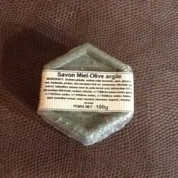 Savon MIEL-OLIVE ARGILE